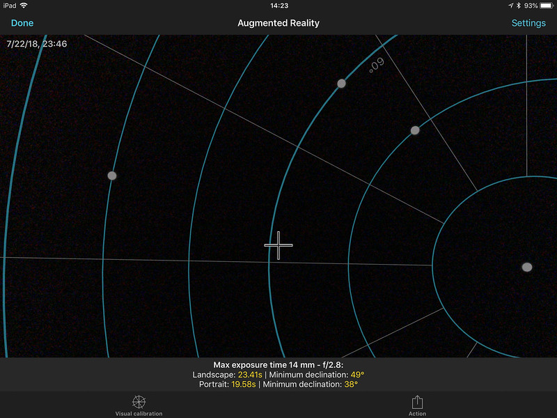 Extended NPF Rule looking at the north celestial pole