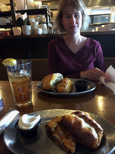 Cornish Pasty Co.  Very delicious.  A sheppards pie and guiness stew pasty.