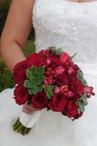 Red roses, tulips, succulents -$130
