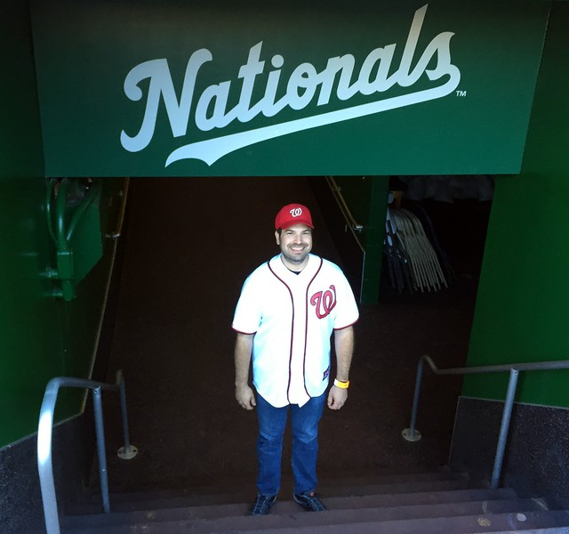 Craig emerges from the Nationals clubhouse (photo by Joseph Gruber)