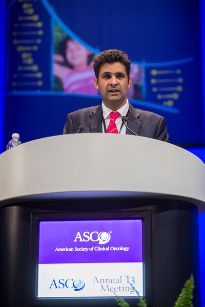 Chicago, IL - ASCO 2013 Annual Meeting: - Karim Fizazi during GU (Nonprostate) Oral at the American Society for Clinical Oncology (ASCO) Annual Meeting here today, Saturday June 1, 2013.  Over 30,000 physicians, researchers and healthcare professionals from over 100 countries are attending the meeting which is being held at the McCormick Convention center and features the latest cancer research in the areas of basic and clinical science. Photo by © ASCO/Todd Buchanan 2013 Technical Questions: todd@toddbuchanan.com; ASCO Contact: photos@asco.org