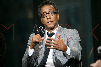 """NEW YORK, NY - NOVEMBER 10:  Andre Royo and Josh Locy visit AOL Build Series to discuss """"Hunter Gatherer"""" at AOL HQ on November 10, 2016 in New York City."""