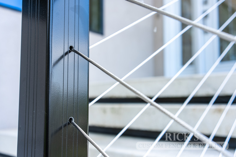 1705 - Aluminum Handrail with Stainless Steel Cable