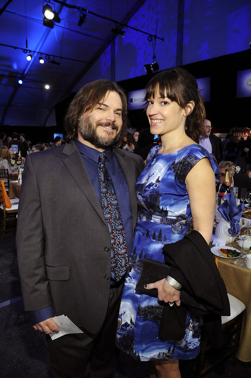. SANTA MONICA, CA - FEBRUARY 23:  Actor Jack Black and musician Tanya Haden attend the 2013 Film Independent Spirit Awards at Santa Monica Beach on February 23, 2013 in Santa Monica, California.  (Photo by Kevork Djansezian/Getty Images)