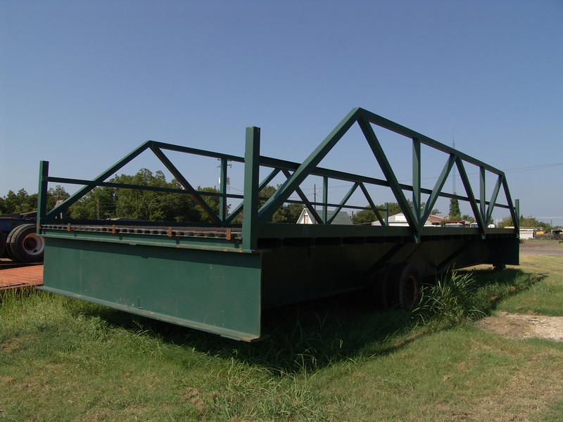 "Custom bridge building...39"" beams from old highway bridge"