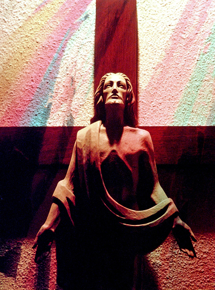 double exposure<br /> Nativity Church<br /> Detroit MI