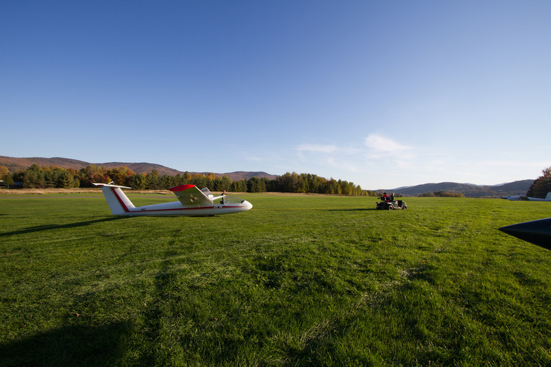 Gliders at Sugarbush airport.