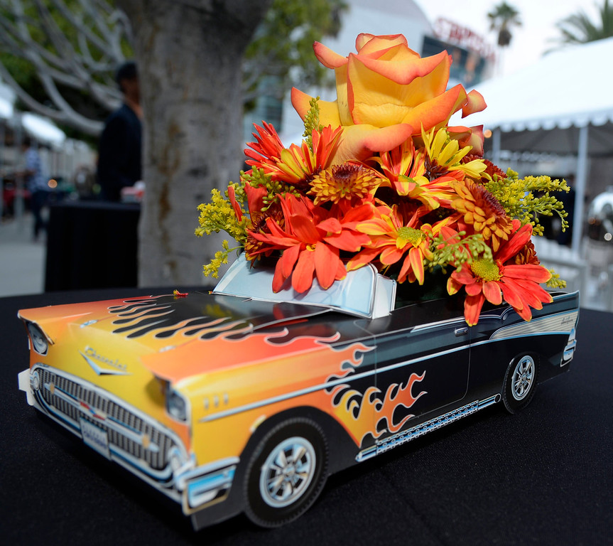 . Fancy classic car decorations during the first media day during the LA auto show, as the show will open to the public this Friday.  Nov 20,2013. Photo by Gene Blevins/LA Daily News