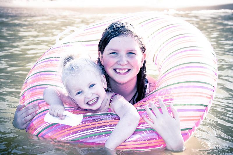 Abigail and Chloe at the lake - June 28th, 2009