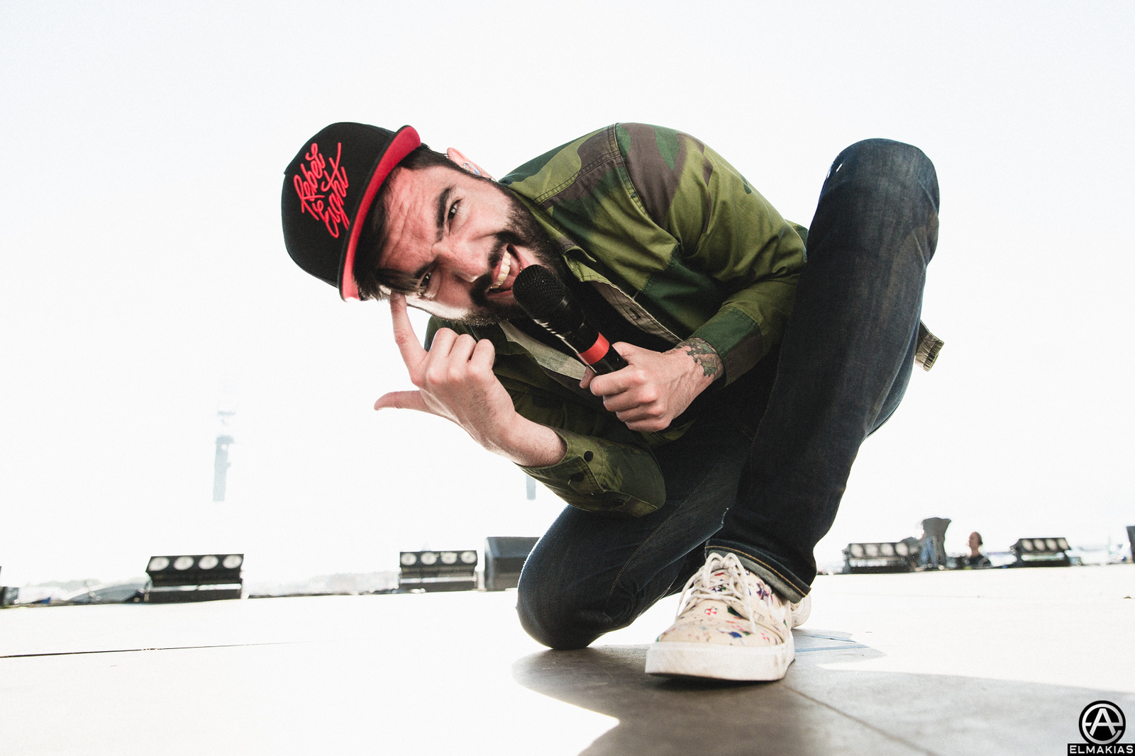 Jeremy McKinnon of A Day To Remember at Bravalla Festival in Norrköping, Sweden