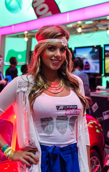 Booth-babe at E3 2012