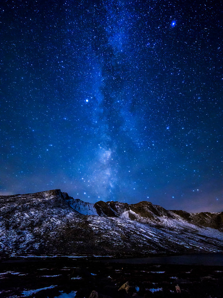 Milky Way over Mount Evans