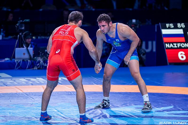 3rd Place Match: Artur Naifonov (Russia) over Myles Nazem Amine (SAN MARINO)  •  Dec 6-0 - 2019 World Championships
