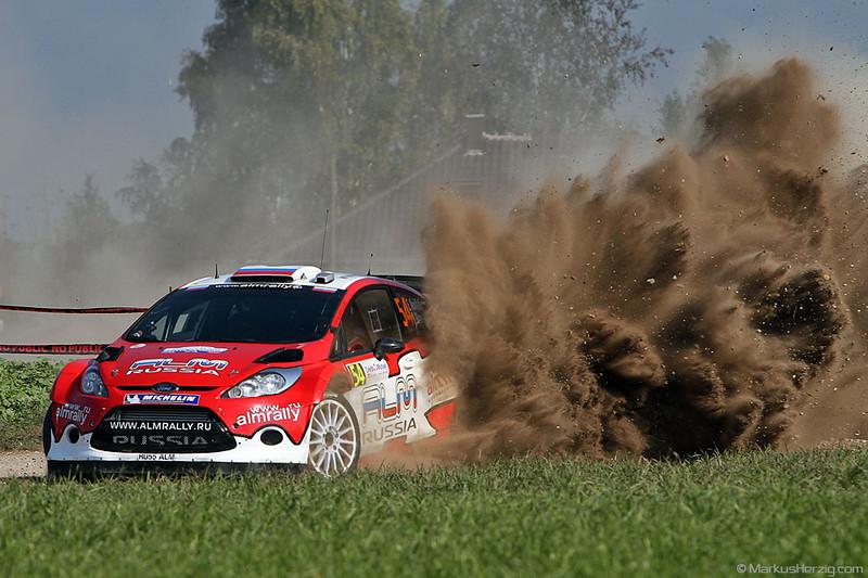 Ford Fiesta RS WRC - Evgeny Novikov RUS @ WRC Rallye de France 2Oct11