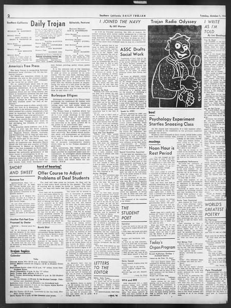 Daily Trojan, Vol. 32, No. 13, October 01, 1940