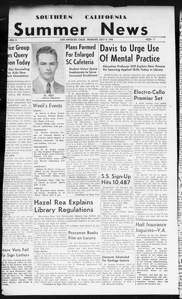 Summer News, Vol. 1, No. 6, July 08, 1946