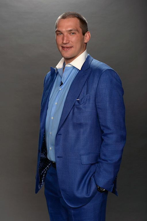 . Alex Ovechkin of the Washington Capitals poses for a portrait during the 2014 NHL Awards at Encore Las Vegas on June 24, 2014 in Las Vegas, Nevada.  (Photo by Harry How/Getty Images)