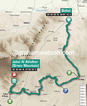 Tour of Oman Stage 5: BidBid > Jabal Al Akhdar, 148kms