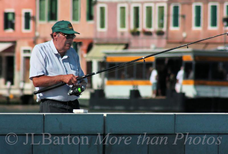 Pier fishing on Murano
