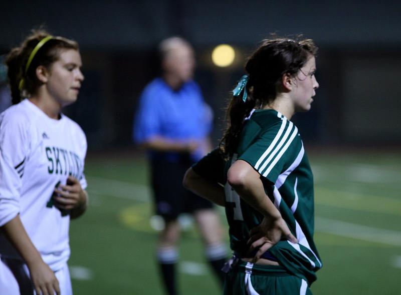 Haley Fay  Woodinville High Girls Varsity Soccer verse Skyline High October 20, 2011, ©Neir