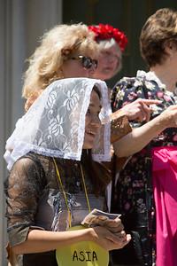 Juspeene Rovert, KCK -- representing ASIA in living rosary.