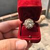 3.45ctw Antique Rose Cut Cluster Ring 24