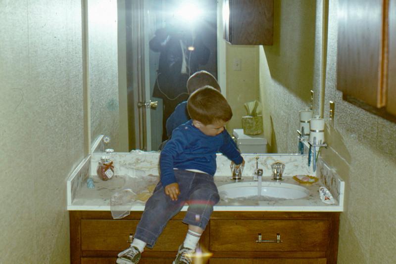 1969 - Bathroom remodel - Randy tries new sink