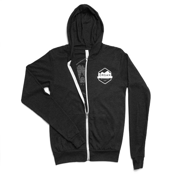 Organ Mountain Outfitters - Outdoor Apparel - Sweater - Classic Lightweight Zip Up Hoodie - Black Front.jpg