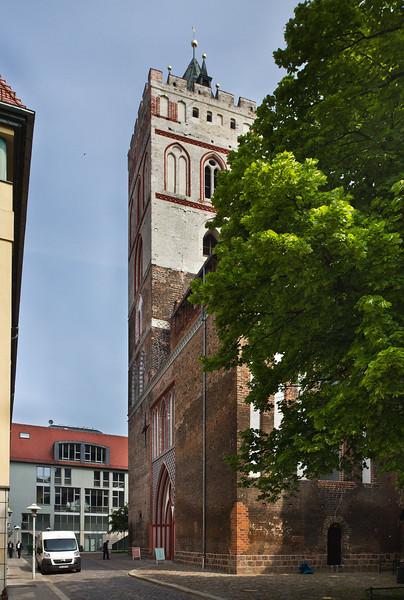 Frankfurt/Oder, St. Marien. Westfront von Süden