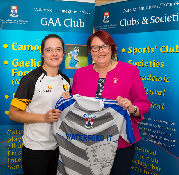 WIT holds event to honour 2016 All Ireland medal winning students. Pictured with the  President of the Camogie Association Catherine Neary is Ann Dalton of the Kilkenny Senior Camogie Team. Picture: Patrick Browne  Waterford Institute of Technology's presence and influence across Gaelic Games at a national level in 2016 has been very noticeable. In total there are 32 past and present WIT students on the respective playing panels that won All Ireland medals in 2016 and a further 4 members on the backroom management teams.   To honour this huge achievement, WIT GAA Club is paying tribute to these 36 past members on securing these prestigious national titles on Monday 3 October, 6.30pm at the WIT Arena.   Along with the players, the prestigious cups, including the All Ireland Senior Hurling Cup- Liam McCarthy, the All Ireland Senior Camogie Cup- O'Duffy, The All Ireland Minor Cup and the All Ireland Under 21 Hurling Cup- James Nowlan, will be on show on the night.