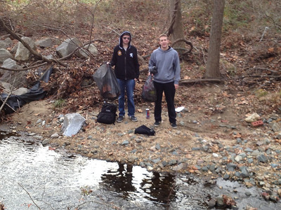 12.12.12 Cleanup Along Deep Run's Bascom Creek (Shallow Run) in Elkridge