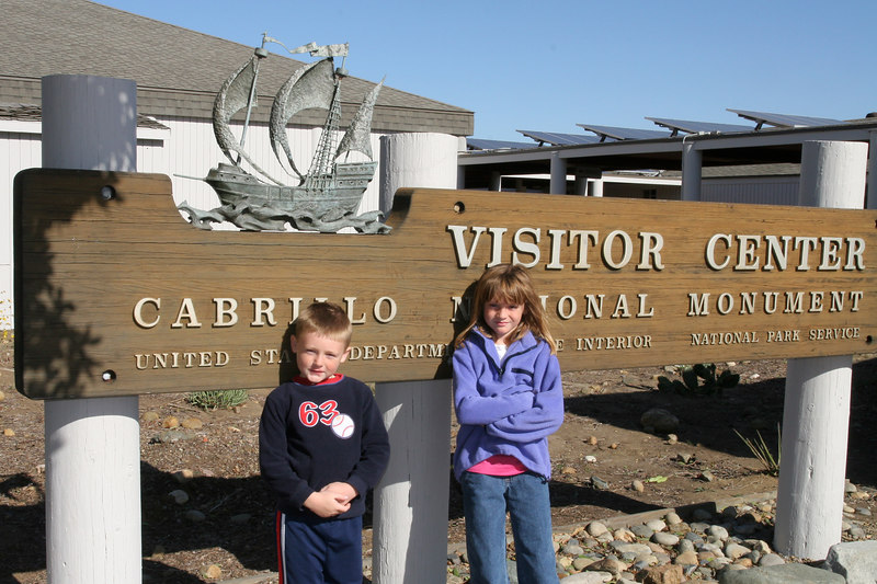 Christopher and Sydney at Cabrillo National Monument.