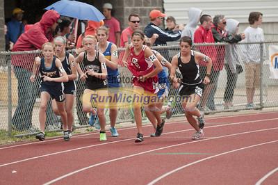 Girls 3200M Run - 2012 MHSAA LP D2 T&F Finals