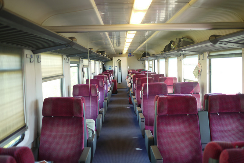 1st class is nothing fancy on this train