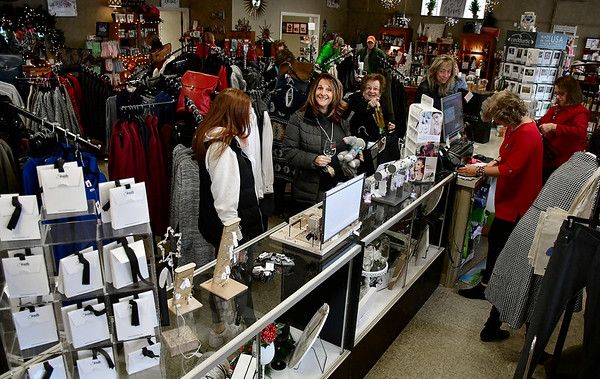 11/24/2018 Mike Orazzi | Staff Saturday shoppers at Good Cause Gifts in Berlin on while supporting small business on Main Street in Berlin.