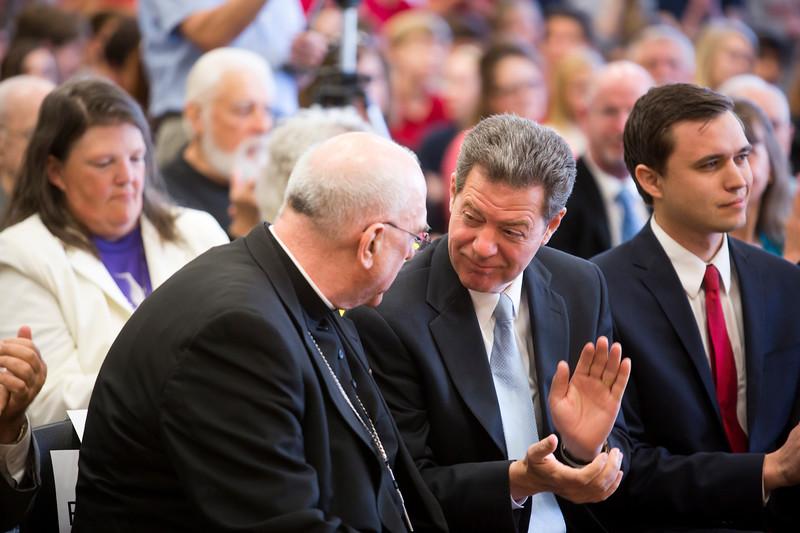 4/28/15 Gov. Brownback Abortion Law Signing at Holy Trinity, Lenexa.