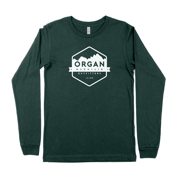 Outdoor Apparel - Organ Mountain Outfitters - Mens T-Shirt - Classic Long Sleeve Tee - Forest Green.jpg