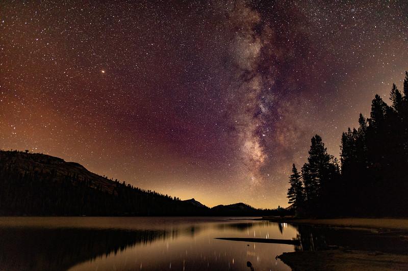 Milky Way shining over Tenaya Lake