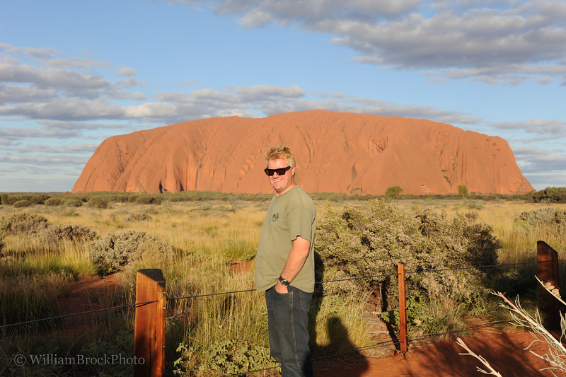 Andrew at Uluru (Ayer's Rock)