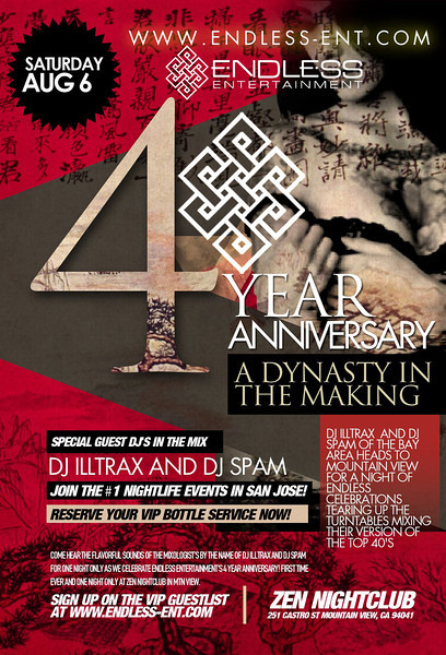 8/6 [Endless 4yr anni@Zen Lounge]