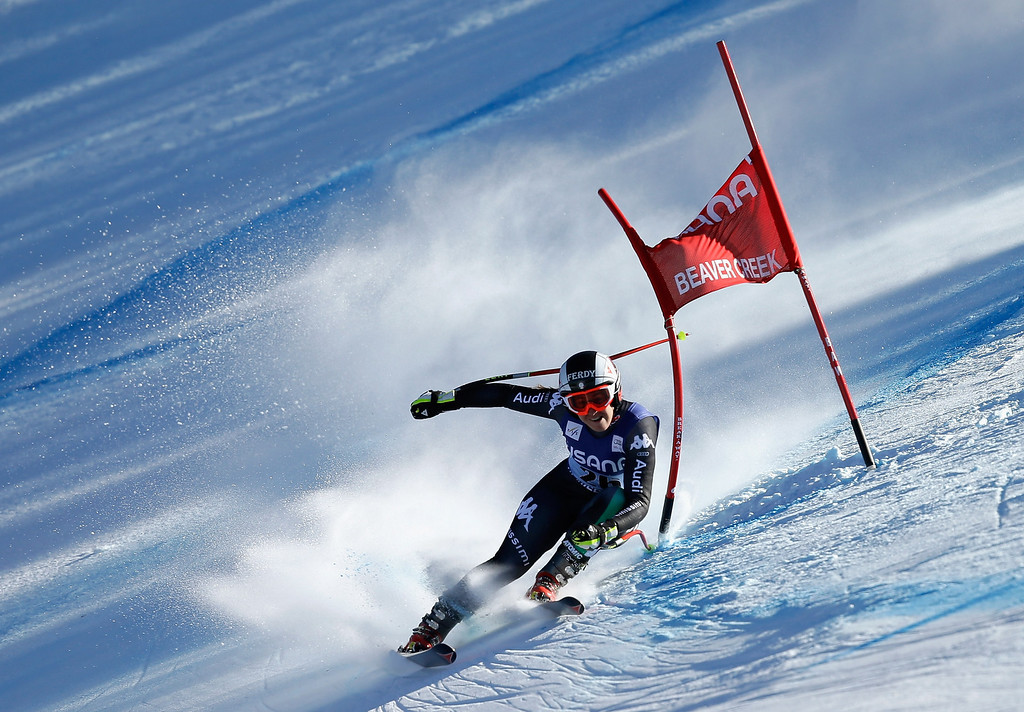 . Sofia Goggia of Italy in action during the FIS Beaver Creek Ladies\' Super G World Cup Race on November 30, 2013 in Beaver Creek, Colorado.  (Photo by Ezra Shaw/Getty Images)