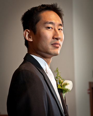 Groom before the Ceremony - Jang & Hannah
