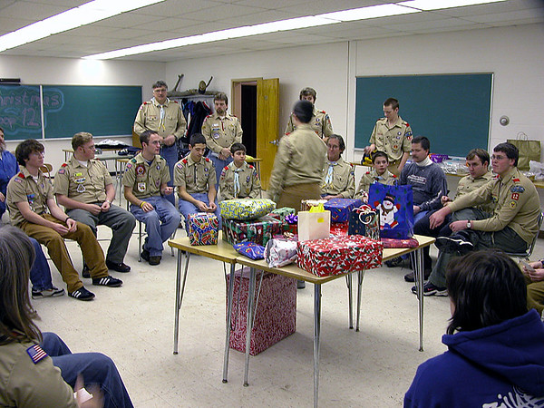 Troop 12 Christmas Party 2004