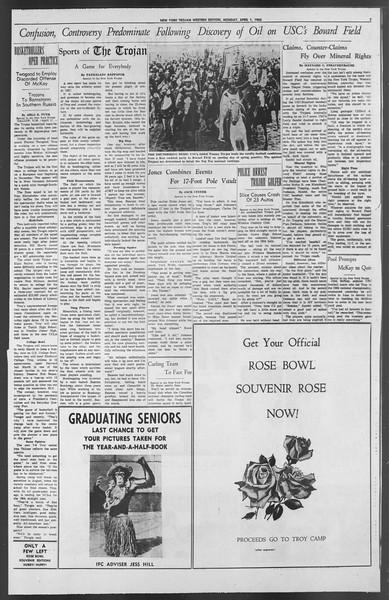 The New York Trojan, Vol. 54, No. 93, April 01, 1963