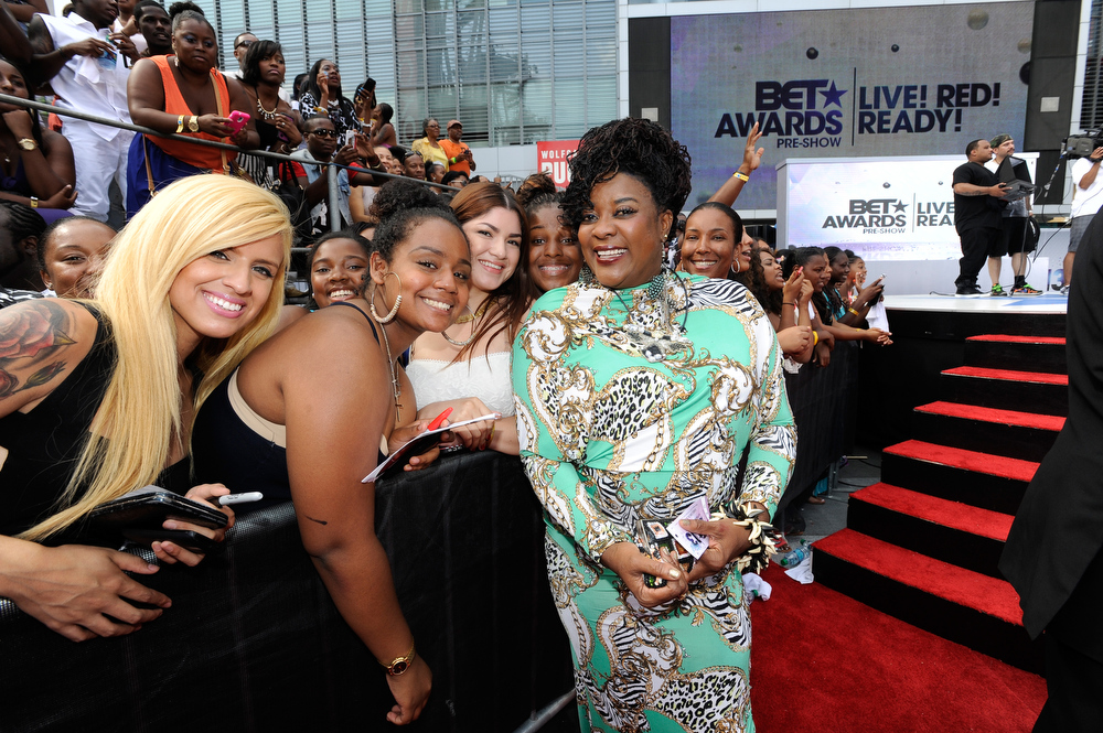 Description of . Actress Loretta Devine attends 106 & Park Stage Pre-Show during the BET Awards at Nokia Theatre L.A. Live on June 30, 2013 in Los Angeles, California.  (Photo by John Ricard/Getty Images for BET)