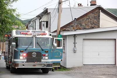 Smoke in Structure, Cherry Street, Tamaqua (5-28-2013)