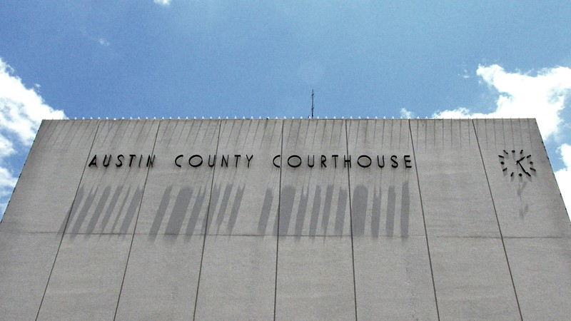Austin County Courthouse Building Signage