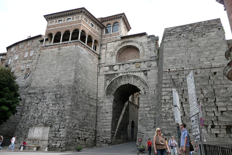 Arco Etrusco. Perugia, Umbria