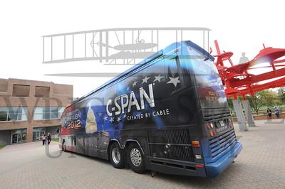 9894 CSPAN bus visit to campus 10-5-12