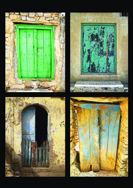 a selection of wooden doors in the mideast -4